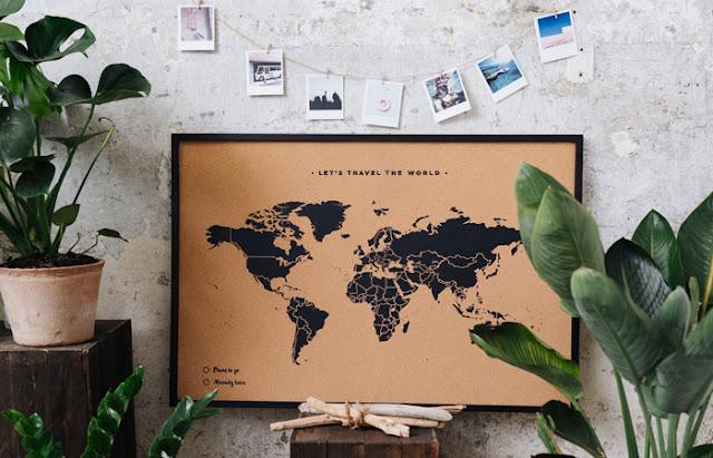 J'ai décidé de mettre une carte du monde dans mes escaliers !