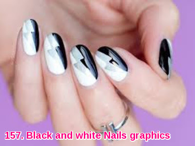 Black and white Nails graphics