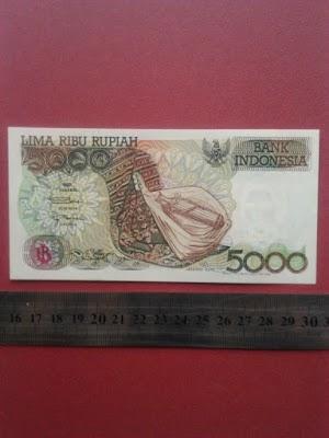5000 rupiah tahun 1992