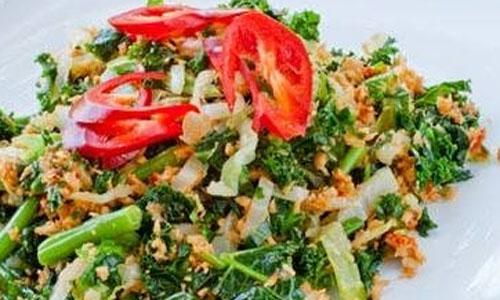Cara Membuat Dan Resep Urap Kenikir Sambal Tempe Resep Dan Cara Membuat Makanan Sederhana