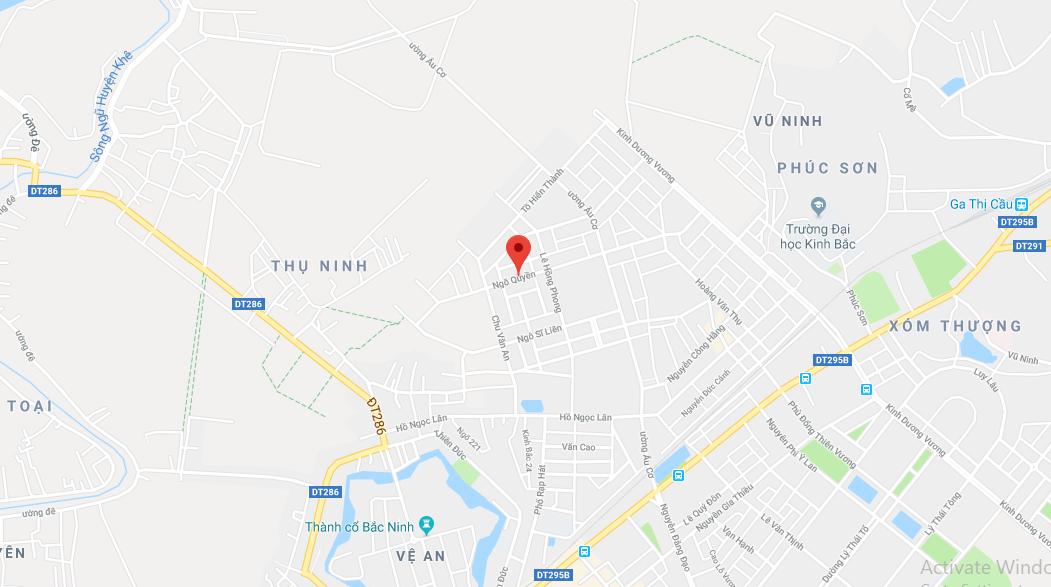 Vị trí dự án TNR Stars Ngô Quyền Bắc Ninh