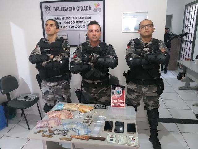 Polícia Militar desarticula ponto de venda de drogas na Cidade de Patos