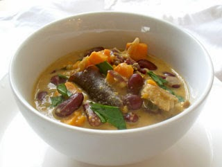Thai Sweet Potato Kidney Bean soup