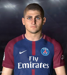 PES 2017 Faces Marco Verratti by Facemaker Ahmed El Shenawy
