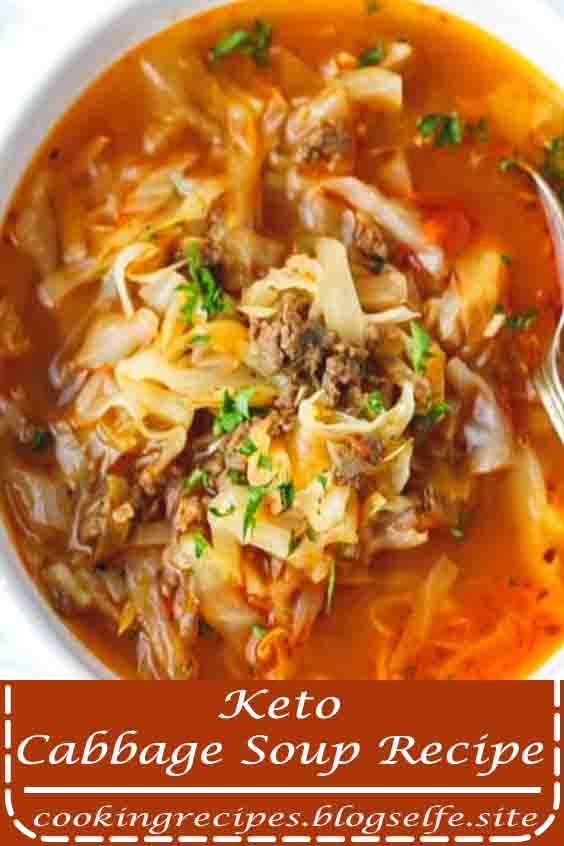 4.9 ★★★★★ | Keto Cabbage Soup Recipe – very quick and easy to make, nutritious and delicious soup made with cabbage, ground beef and tomatoes. Hearty, one pot, a family favorite, perfect for the cold weather. #easy dinner recipes #casserole #ground beef #weeknight meals