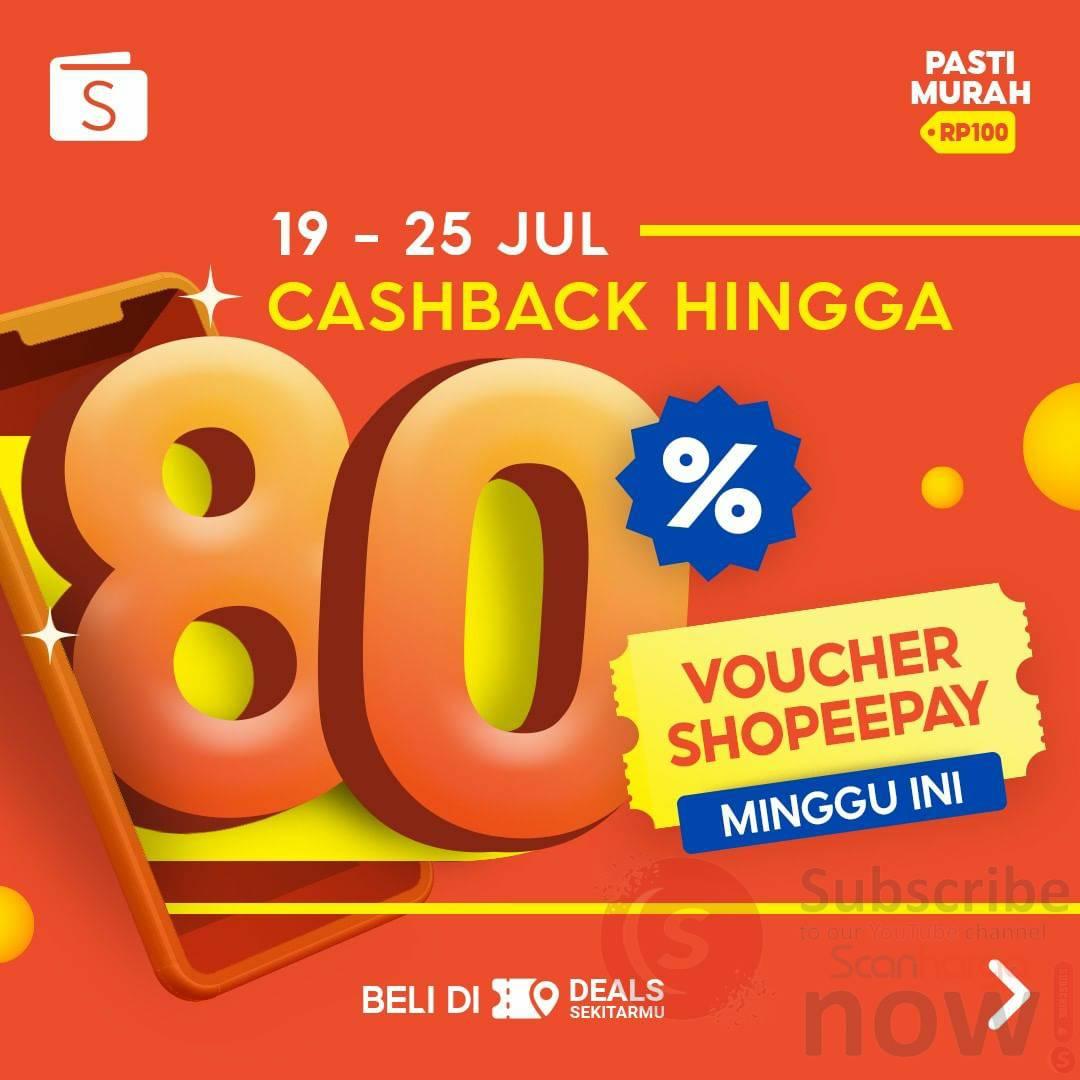 Voucher Shopeepay Cashback hingga 80% Terbaru Minggu Ini