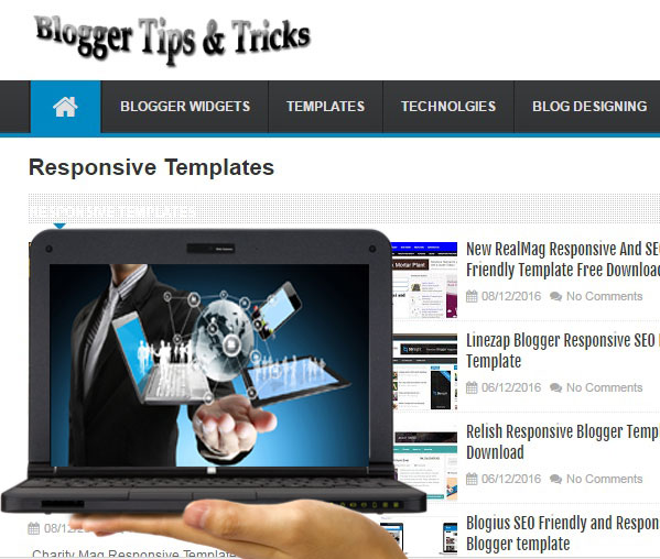 Linezap Blogger Responsive SEO Friendly Template