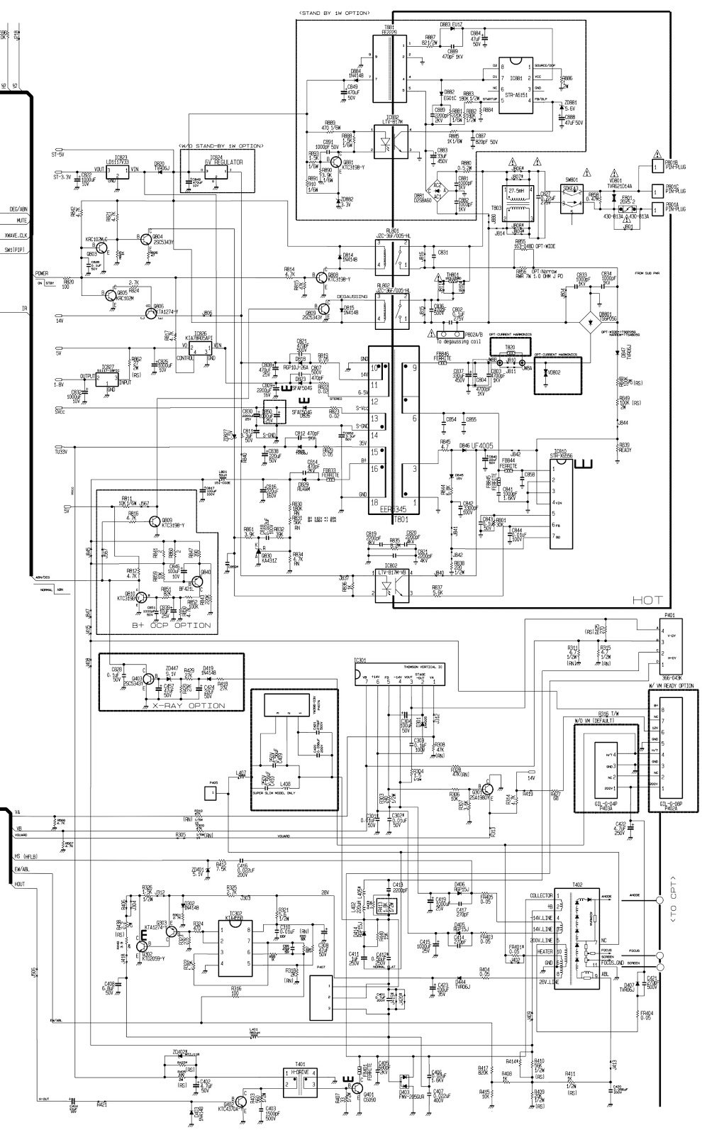 Schematic Diagrams: STR-X6556 based SMPS power supply