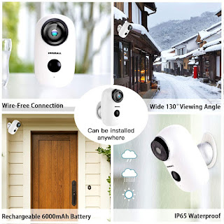 Wireless Rechargeable Battery Powered WiFi Camera
