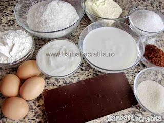 Prajitura cu cocos si ciocolata - ingredientele necesare prepararii retetei