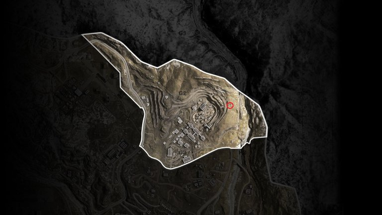 location indicated in the message sent by Ghost map