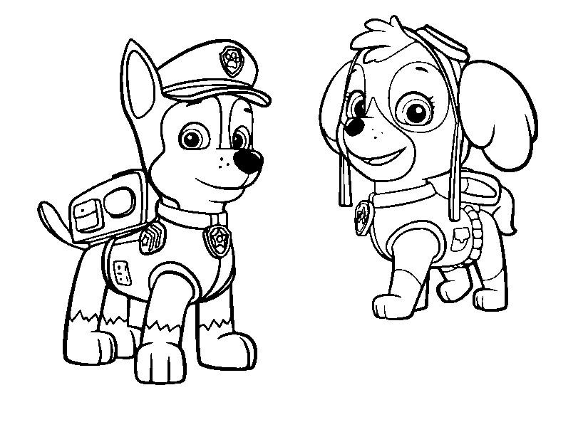 Patrulha Canina Desenhos Para Pintar Colorir Imprimir Espaco