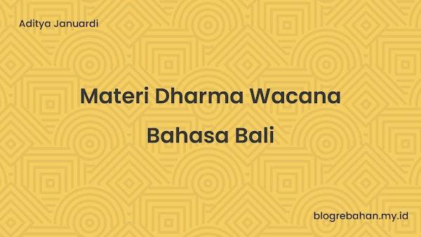 Materi Dharma Wacana Bahasa Bali