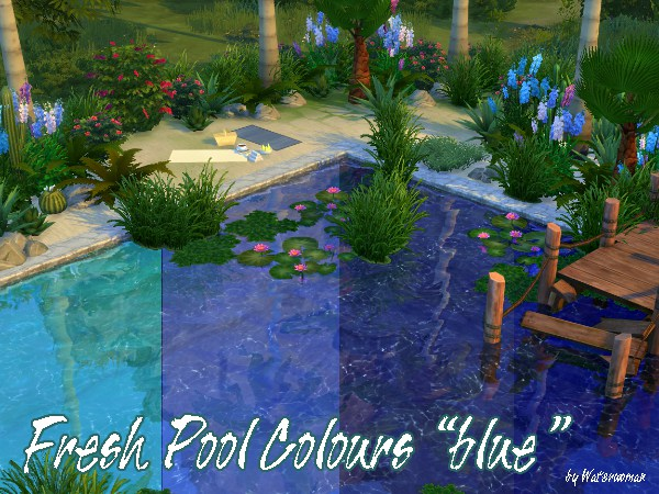 My Sims 4 Blog Turquoise And Blue Pool Colors By Waterwoman