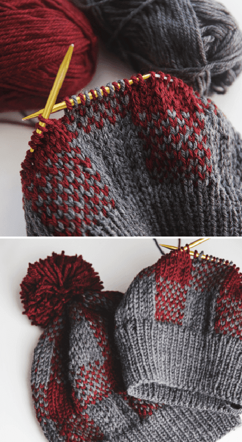 Buffalo Plaid Hat - Free Knitting Pattern