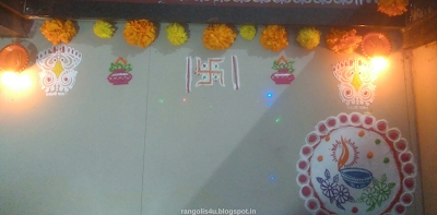 Rangolis with Flowers