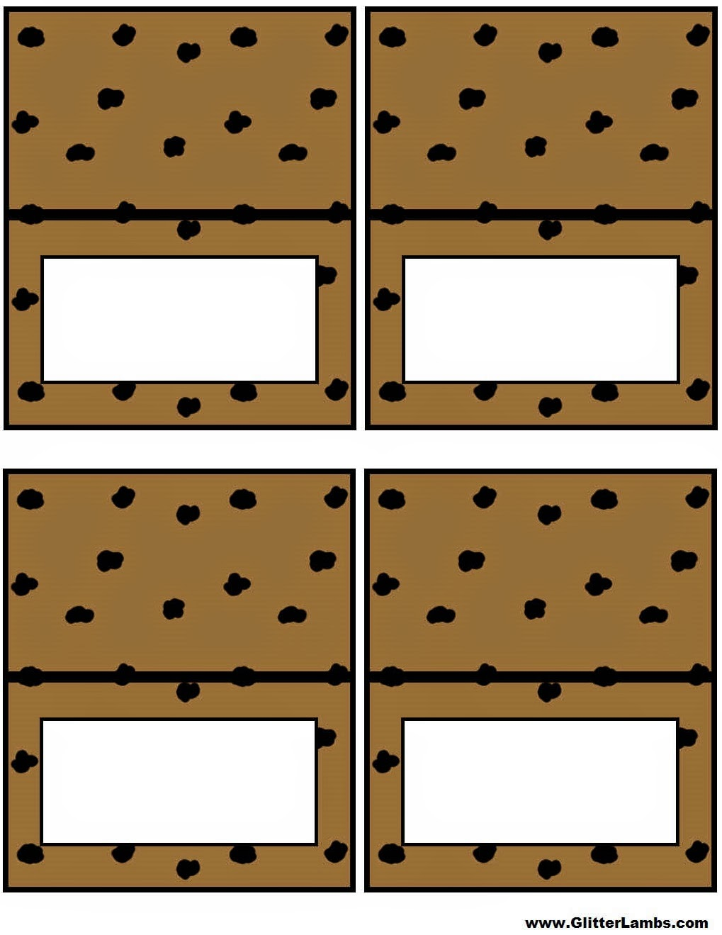 moster templates - glitter lambs cookie monster food label cards and free