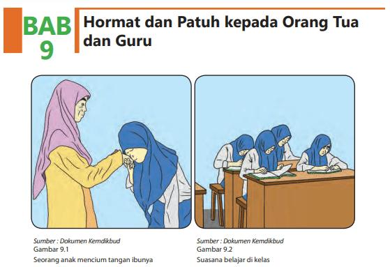 Jawaban Agama Islam Kelas 8 BAB 9 Hormat dan Patuh kepada Orang Tua dan Guru