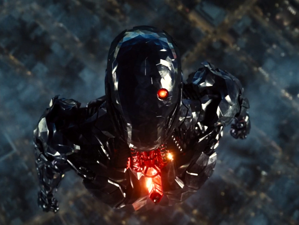 Cyborg tests his abilities in ZACK SNYDER'S JUSTICE LEAGUE.