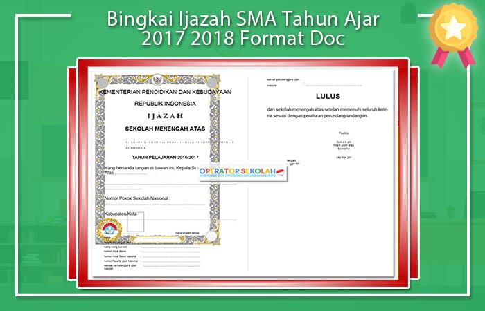 Bingkai Ijazah SMA Tahun Ajar 2019 Format Doc