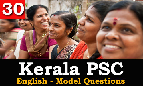 Kerala PSC - Model Questions English - 30