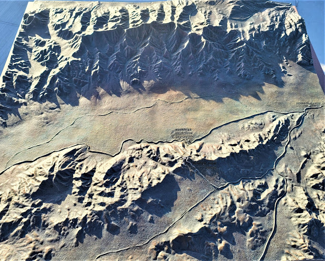 Map of Death Valley at Dante's View