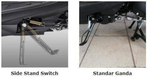 Pengamanan motor Teknologi Side Stand Switch
