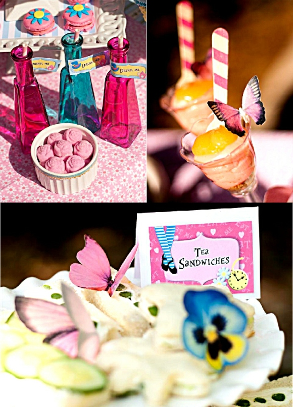Alice in Wonderland Mad Hatter Tea Party Sweet Treats - via BirdsParty.com
