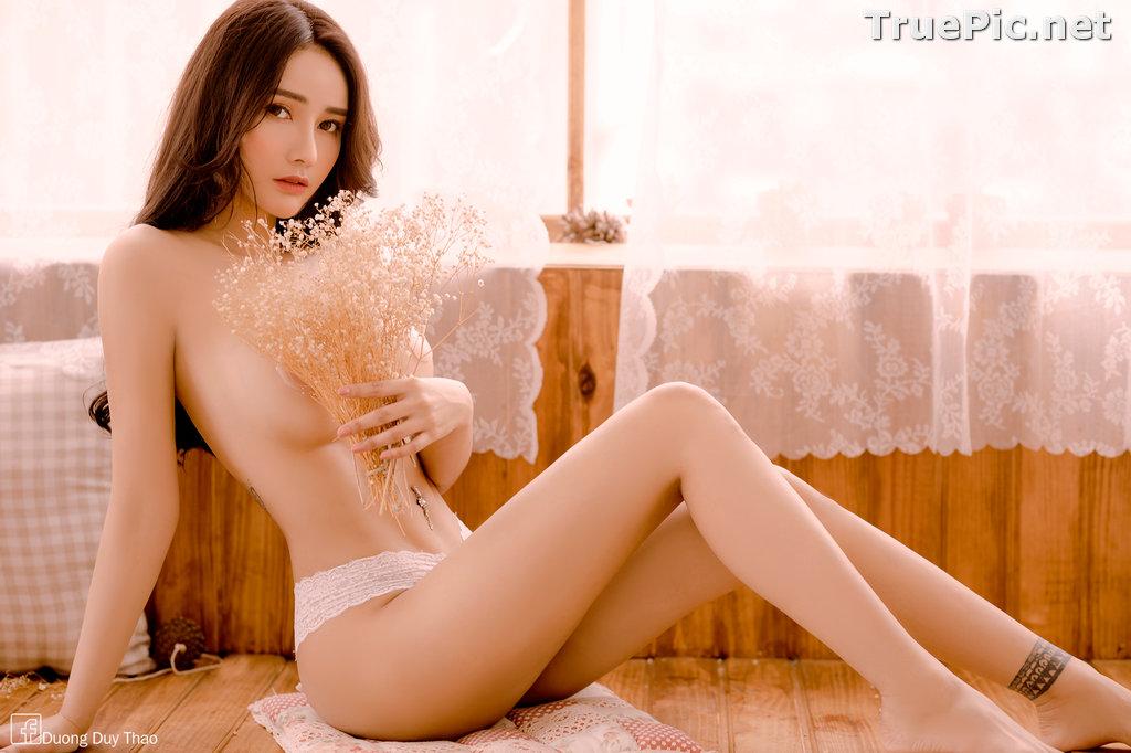 Image Vietnamese Hot Girl – Nguyen Thi Phi Yen - Sexy White Lingerie - TruePic.net - Picture-14