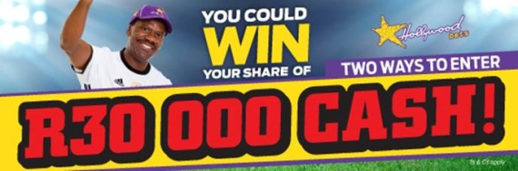 Win R30 000 Cash when you bet on soccer at Hollywoodbets