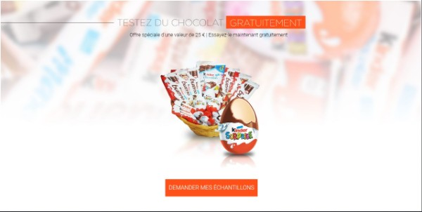 Take free the best Kinder chocolate now For France