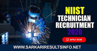 NIIST Technician Recruitment 2020: NIIST, Thiruvananthapuram  has recently invited an online application form for the 2020 Technician position recruitment.