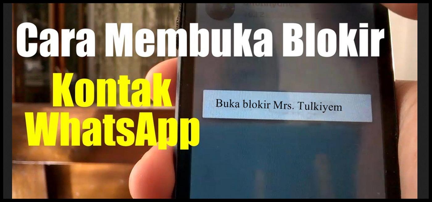 cara blokir kontak whatsapp tanpa