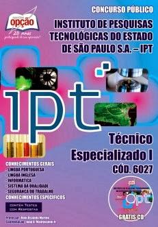 Apostila IPT/SP - TÉCNICO ESPECIALIZADO