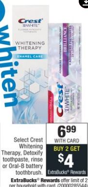FREE Crest Detoxify Toothpaste CVS Deal 1-5-1-11