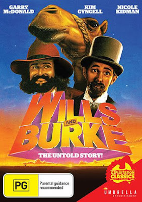 DVD COVER for Umbrella Entertainment's WILLS AND BURKE: THE UNTOLD STORY!