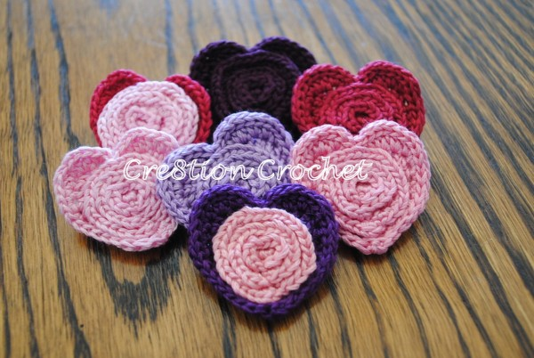 Ergahandmade Crochet Heart Pin Brooch Free Pattern