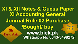 Accounting General Journal Rule 2  Purchase