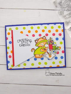 Seeing Spots a card by Diane Morales using  Newton's Crafty Cardio Stamp Set by Newton's Nook Designs