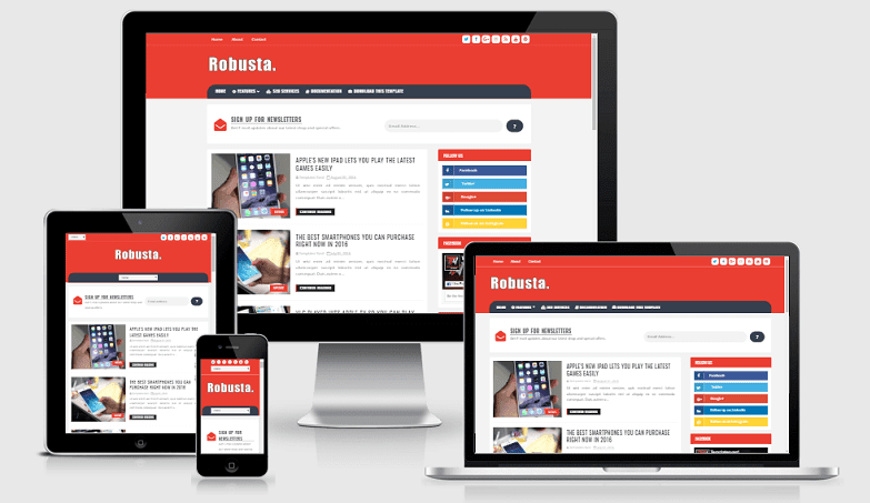 Robusta - Responsive Blog Blogger Template