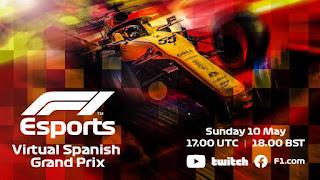 Resultado Parrilla Salida Virtual de F1 España 10-5-2020