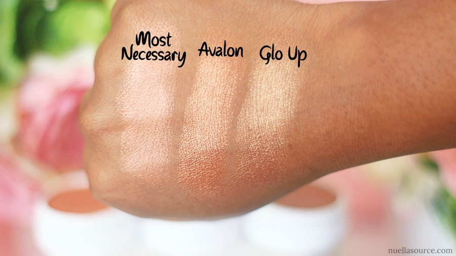 Colourpop super shock highlighter glo up most necessary avalon swatches on woc dark skin