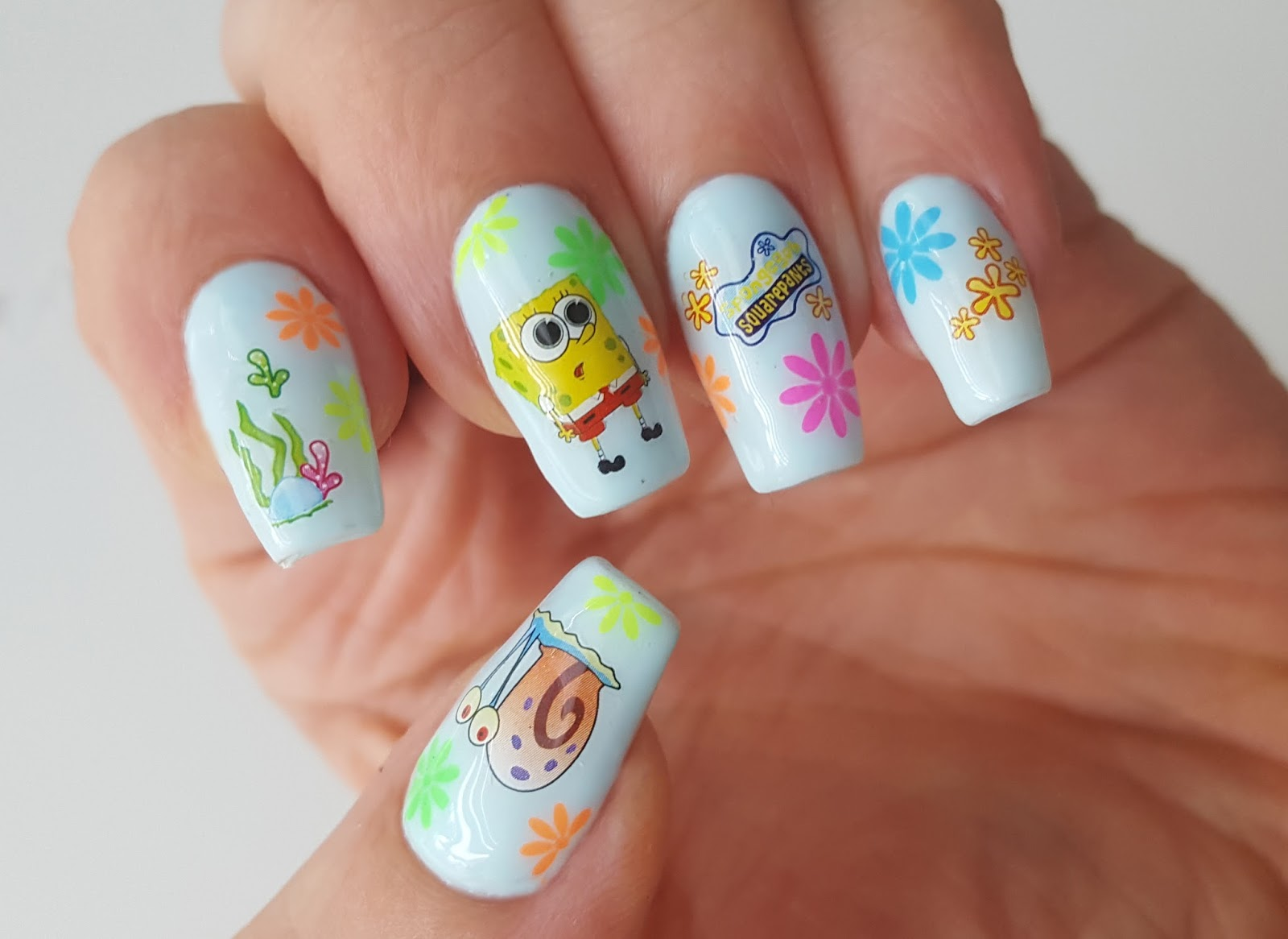 Mno - Spongebob nail decals