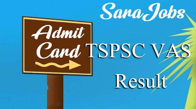 TSPSC VAS Result