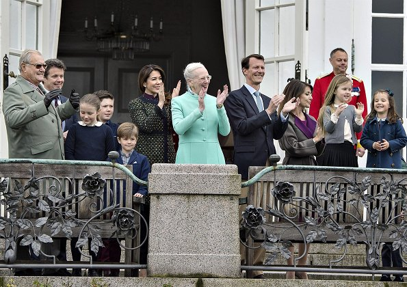 Crown Prince Frederik, Crown Princess Mary, Princess Josephine, Princess Isabella, Prince Vincent, Prince Christian, Prince Joachim, Princess Marie, Prince Nikolai, Prince Felix, Princess Athena and Prince Henrik