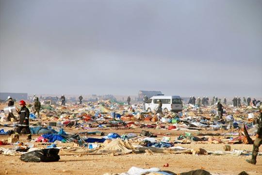 Diez años de la protesta que dio pie a las primaveras árabes, El Campamento de Gdeim Izik en el Sáhara Occidental.