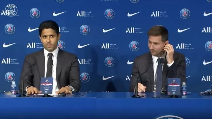 Nasser Al-Khelaifi on Messi: This is an amazing and historic day for the club