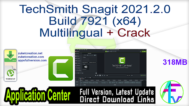 TechSmith Snagit 2021.2.0 Build 7921 (x64) Multilingual + Crack