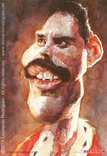 caricatura de Freddie Mercury