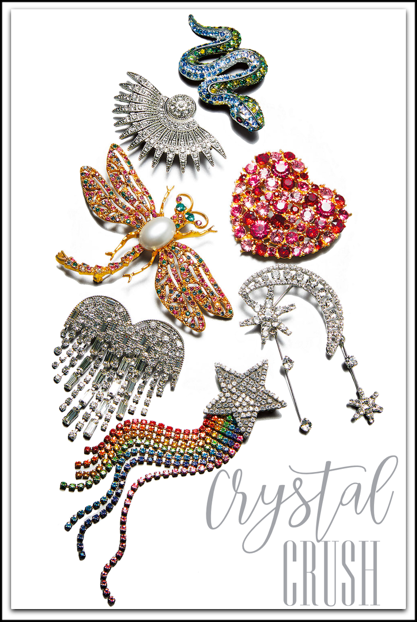 Kenneth Jay Lane Crystal Assorted Pins